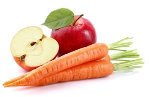 carrot apples for teeth