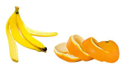 orange banana peel for whitening