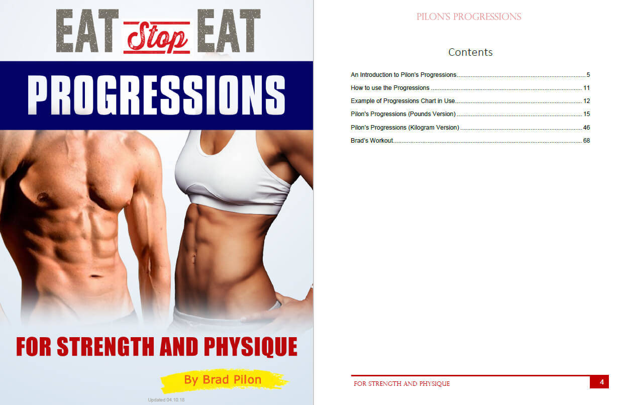 Eat Stop Eat Progressions Table of Contents